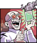 A laughing scientist